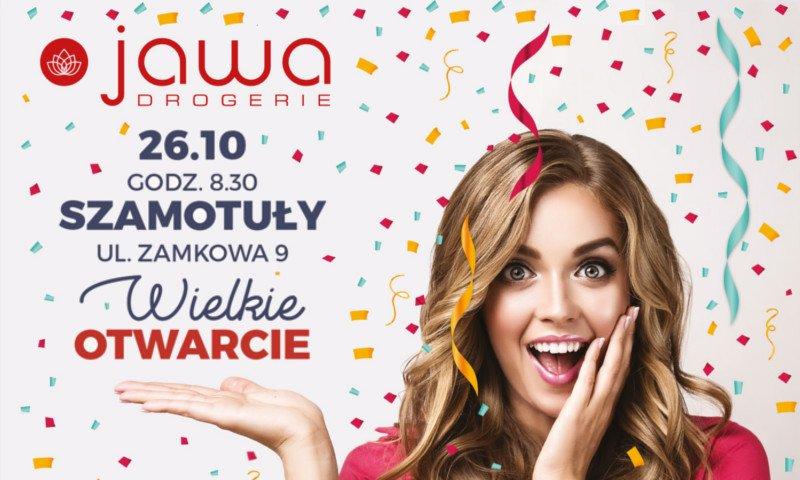 26 października nastąpi otwarcie nowej Drogerii Jawa w Szamotułach. Na klientów oczekiwać będą atrakcyjne promocje i niespodzianki!