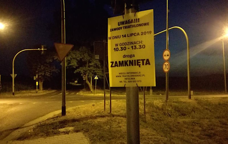 W niedzielę Triathlon Kiekrz i spore utrudnienia dla mieszkańców gminy Szamotuły