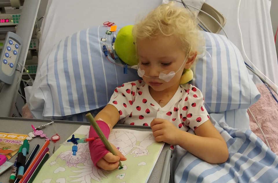 Marcelinka Kominek wraca do zdrowia po operacji serca