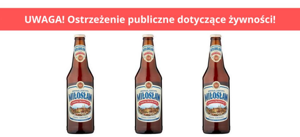 Popularne piwo wycofane ze sprzedaży. Może zawierać fragmenty szkła