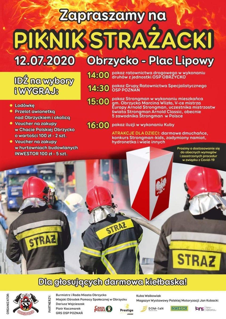 OSP Obrzycko zaprasza na piknik strażacki (12.07)
