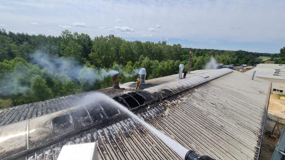 Pożar na terenie tartaku w Obrzycku