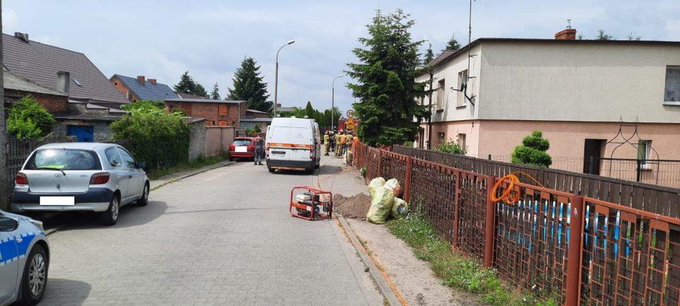 Uszkodzenie gazociągu we Wronkach. Ewakuowano 11 osób