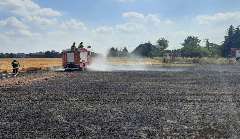 10 zastępów straży gasiło pożar w Przecławiu
