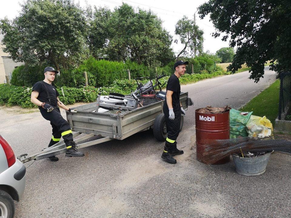 Strażacy z Kłodziska zebrali ponad 8 ton złomu, by kupić sprzęt ratujący życie